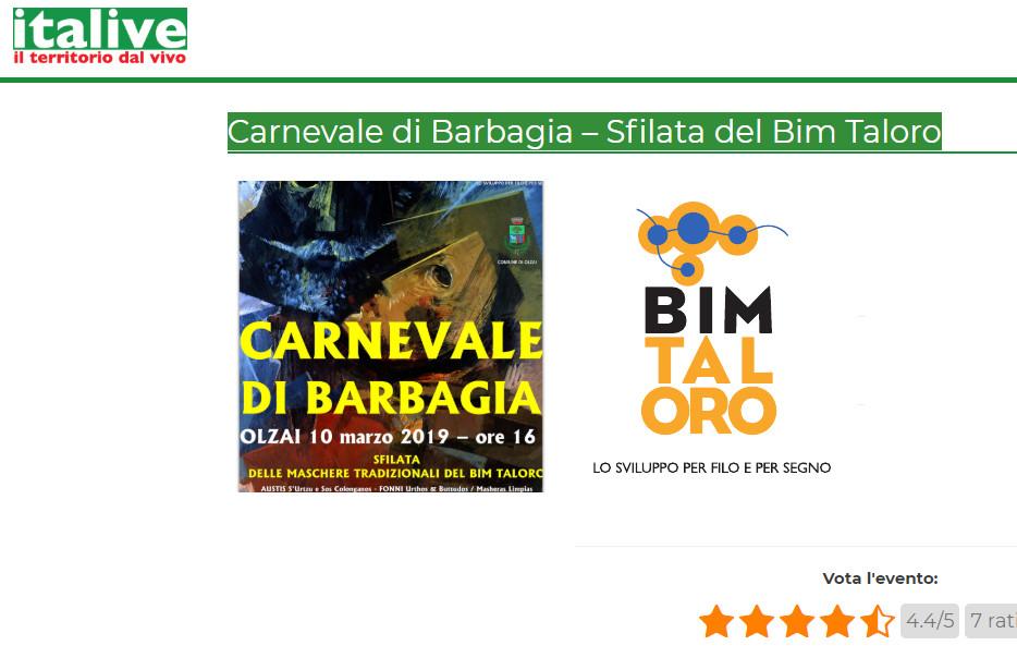 italive.it e Carnevale BIM Taloro