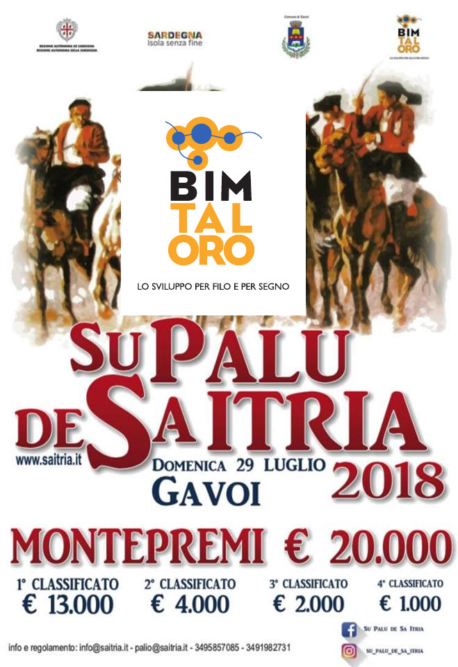 PALU DE SA ITRIA 2018 – DOMENICA 29 LUGLIO A GAVOI