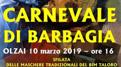 """Domenica 10 marzo, la grande sfilata del Bim Taloro """"Carnevale di Barbagia"""""""