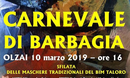 CARNEVALE DI BARBAGIA 2019 – OLZAI 10 MARZO 2019 –