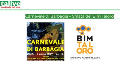 """Carnevale di Barbagia candidato al """"Premio Italive 2019"""""""