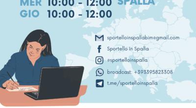 Sportello in Spalla può nuovamente incontrare gli utenti in presenza